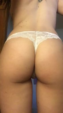 Asshole in thong