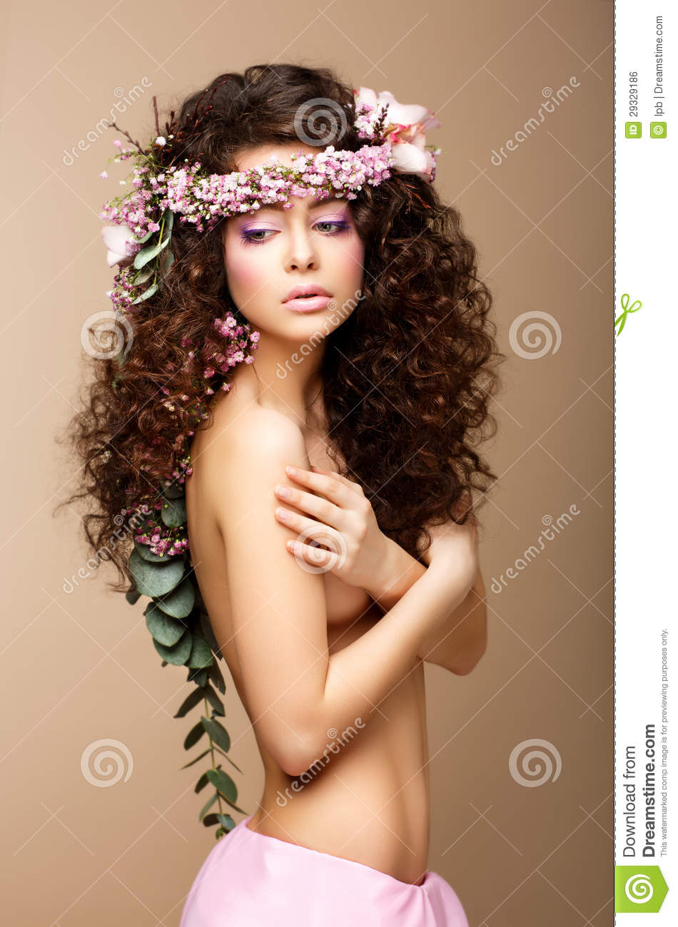 Naked girls with curly hair