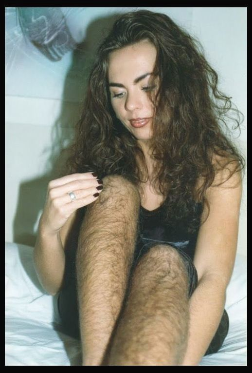 Funny picture of woman with a hairy pussy