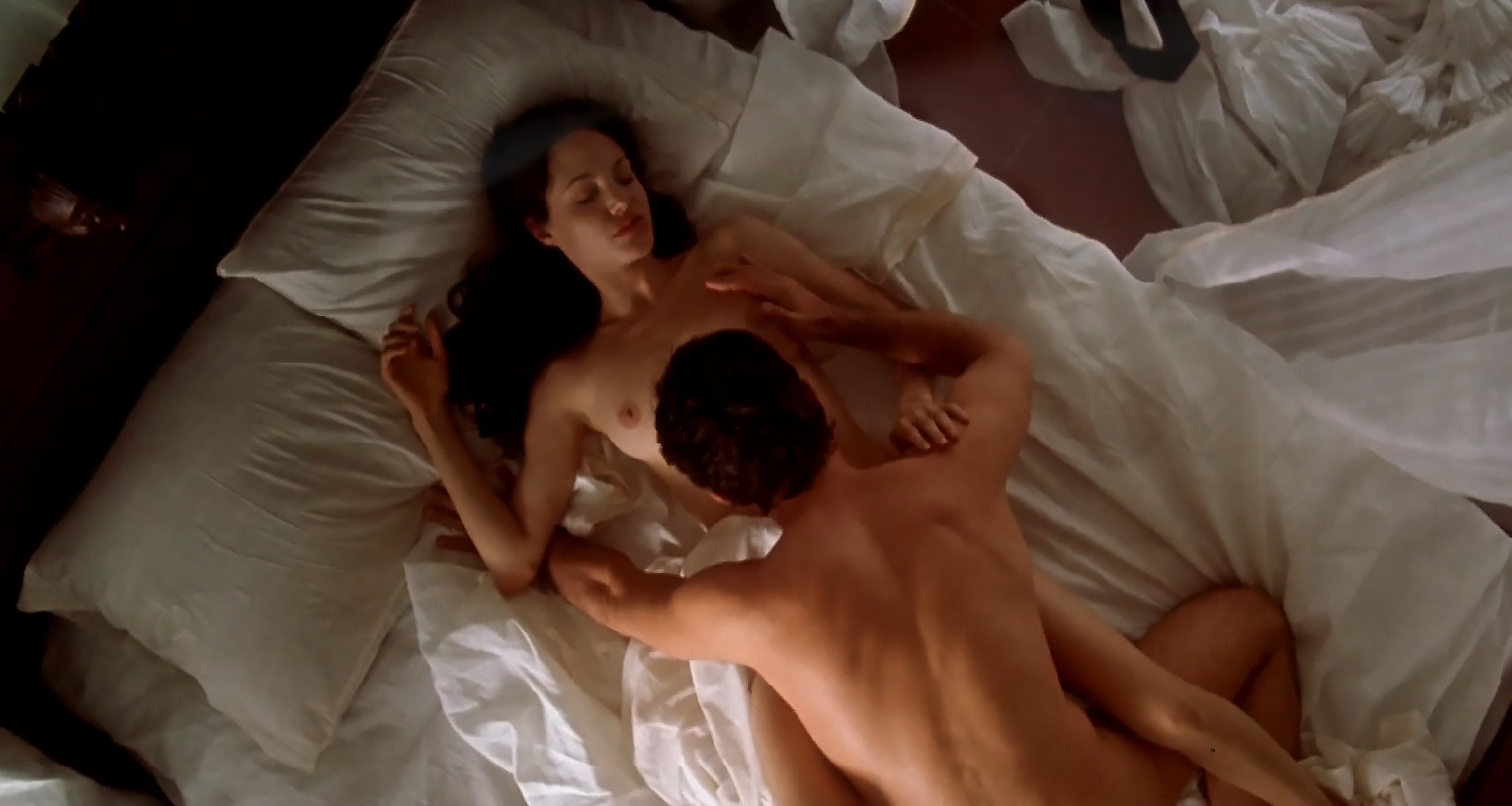 Angelina jolie naked with a man in a movie