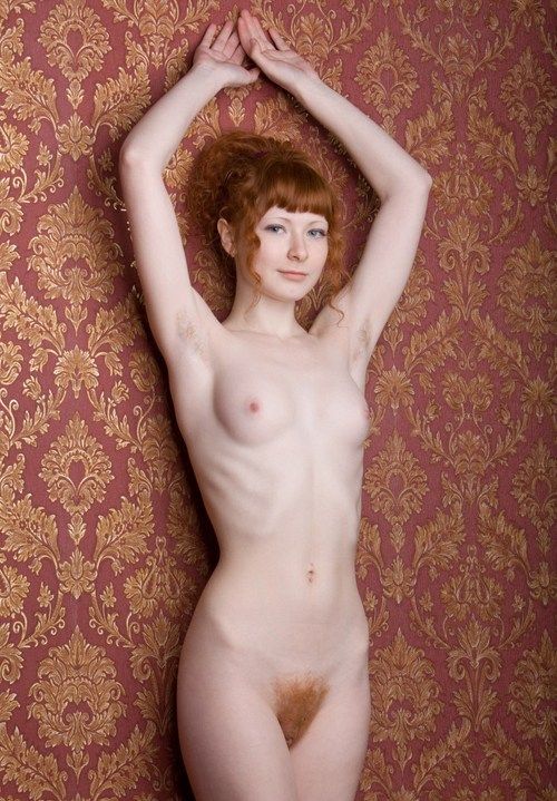 Ginger pubes woman pussy