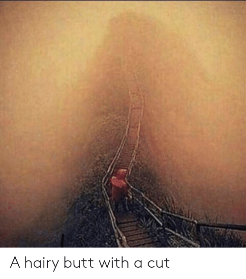 Hairy poopy woman ass
