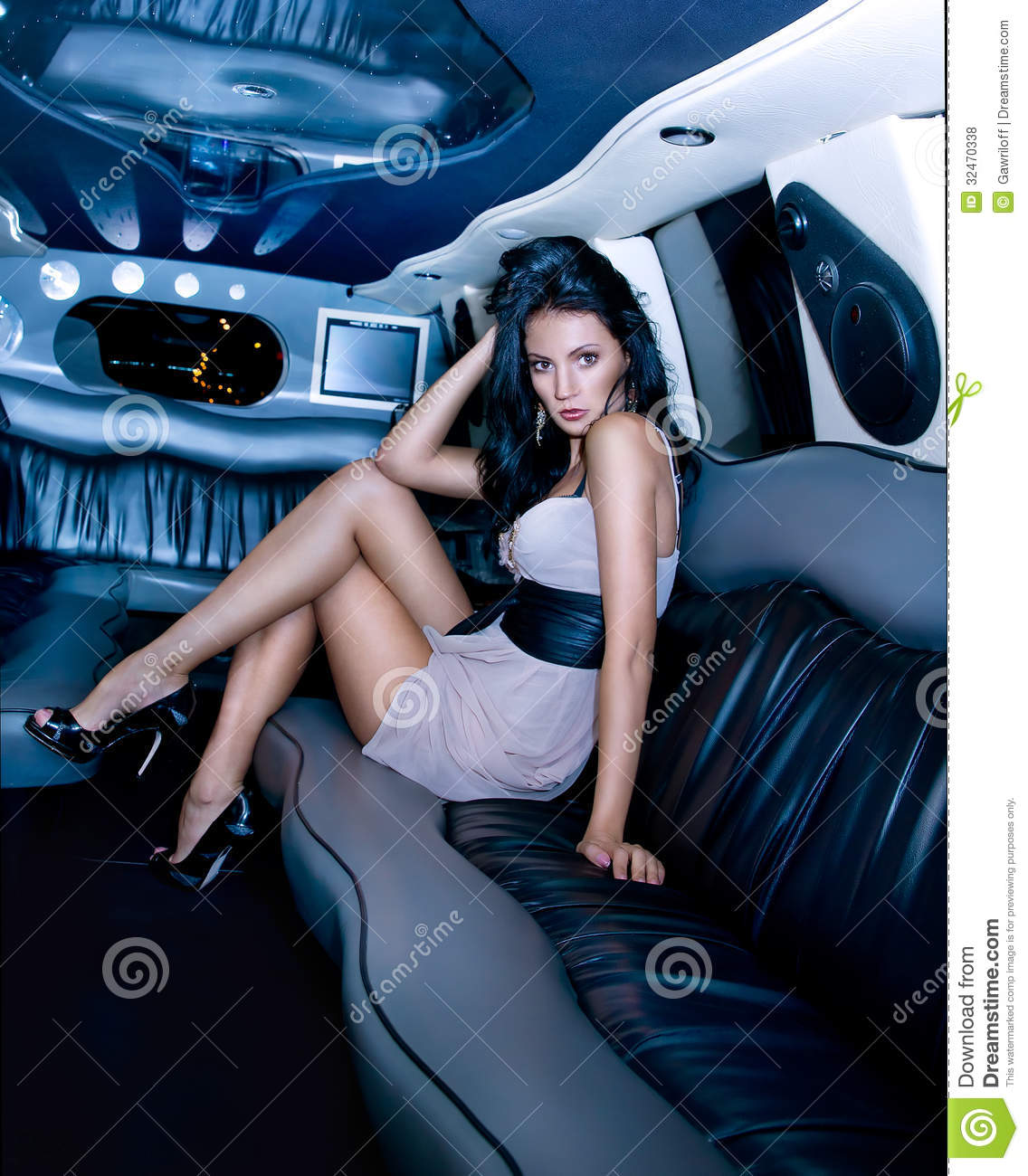 Sexy women in limo