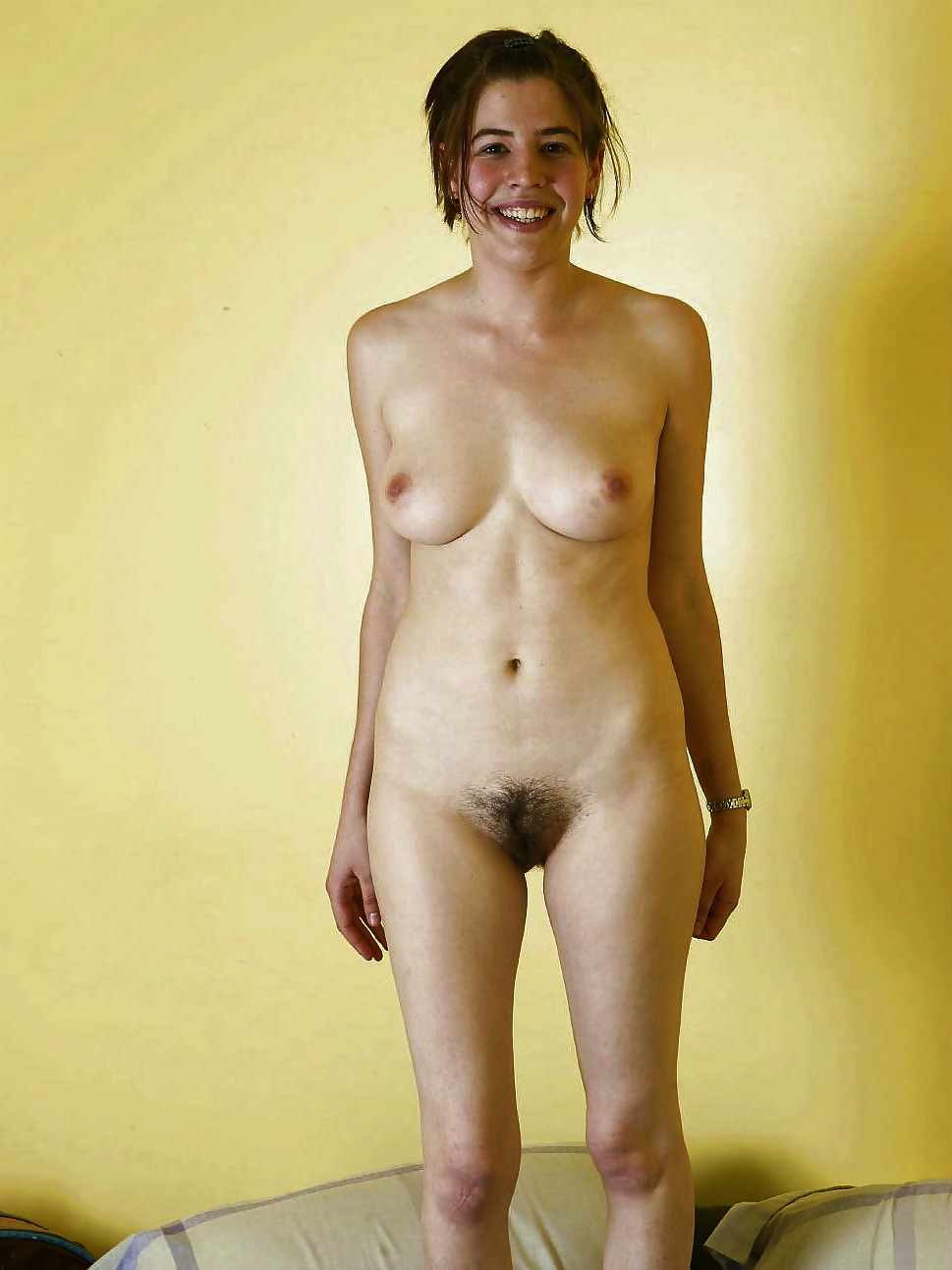 Standing woman nude hairy