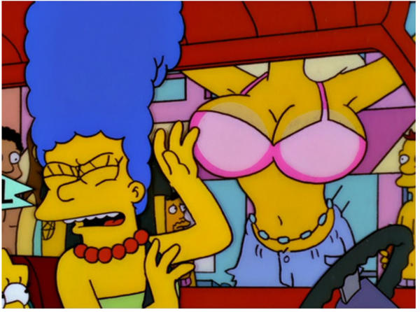 The simpsons marge boobs
